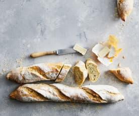 Baguette con erbe aromatiche e aglio