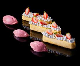 Antonio Bachour: Crème Fraîche Cheesecake with Strawberry Sherbet
