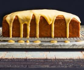 Plumcake al pistacchio con crema al lime