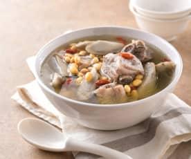 黃豆牛蒡排骨湯