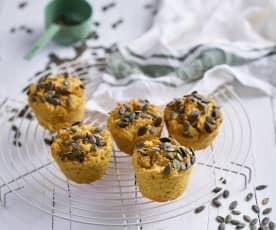 Muffins de frango e batata-doce