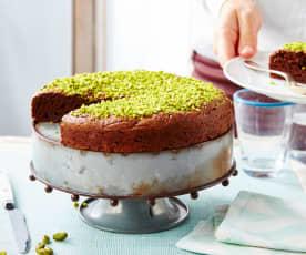 Gâteau choco-avocat-pistaches