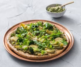 Green goddess pizza