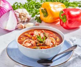Mediterranean Shrimp and Orzo Soup