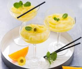 Orangen-Sekt-Slush