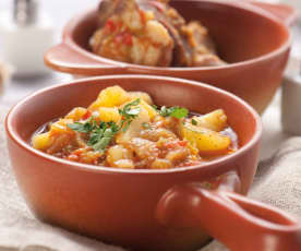 Potrawka z ziemniaków i żeberek
