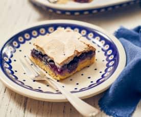 Heidelbeerkuchen mit Baiserhaube (Ciasto jagodowe z bezą)