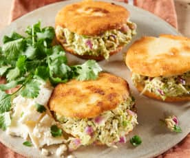 Chicken and Avocado Arepas
