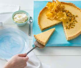 Pineapple passionfruit tart