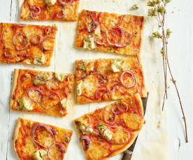 Pizza vegetariana veloce