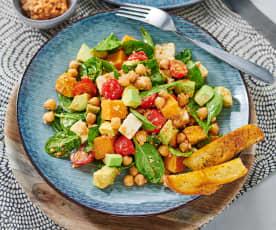 Spinat-Süßkartoffel-Salat mit Walnuss-Pesto