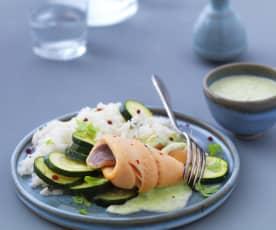 Filet de truite saumonée à la sauce sublime