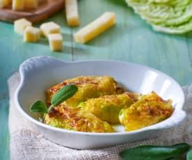Involtini valtellinesi di verza con patate e formaggi