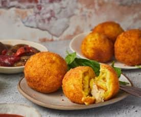 Arancini aux restes de poulet et de risotto