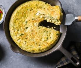 Tortilla de bacalao y verduras