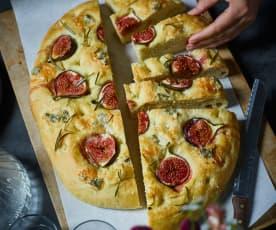 Feigen-Focaccia mit Gorgonzola