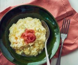 Risotto Gorgonzola e cipolle caramellate