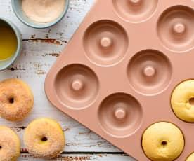 Soft cinnamon doughnuts