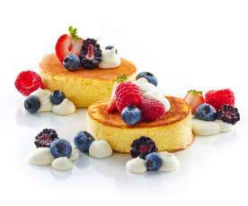 Bachour: Pancakes con crema de mascarpone y frutos