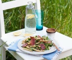 Sałatka ze szczawiu i fasolki szparagowej