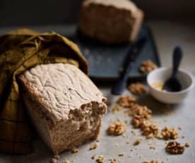 Pão de farinha de castanha e noz sem glúten