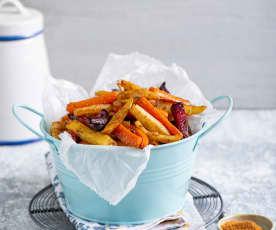Frytki z warzyw z domową mieszanką przypraw