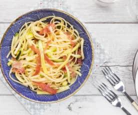 Tagliolini zucchine e culatello