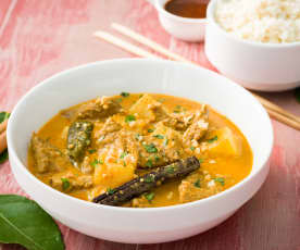 Curry massaman (Ternera al curry rojo)