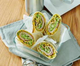 Gemüse-Puten-Tortillas