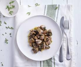 Cogumelos à bulhão pato