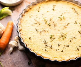 Torta salata con zucca e scarti di verdure