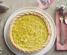 Torta salata di grano saraceno con porri (senza glutine)