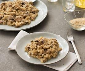 Risotto de quinoa con setas y champiñones