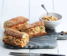 Salmon and Coleslaw Sandwich Filling