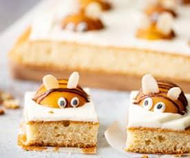 Pastel de abejas con glaseado