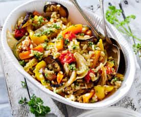 Weizen-Ofengemüse-Salat