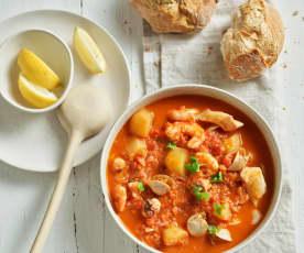 Zuppa di mare con patate