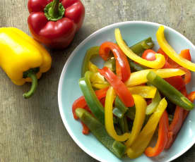 Steamed Peppers