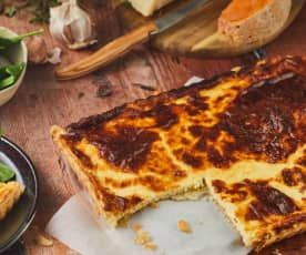 Quiche aux restes de fromage