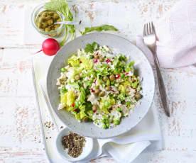 Graupen-Erbsen-Salat mit Thunfisch