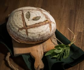 Pão mediterrânico de quark e ervas