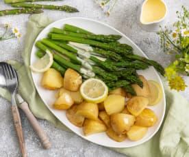 Szparagi z ziemniakami; Sos holenderski