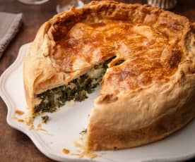 Kale, Potato, Celeriac and Stilton Pie