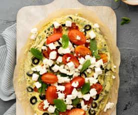 Omelette de ensalada griega