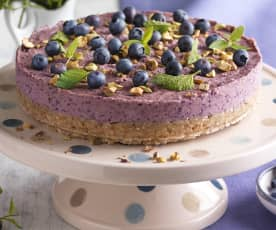 No Bake Heidelbeer Cheesecake