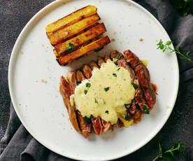 Manzo sottovuoto con patate rosse e salsa bernese di (Lorenzo Biagiarelli)
