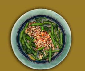 Bohnen-Spinat-Eintopf mit Quinoa