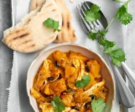 Curry de courge au poulet