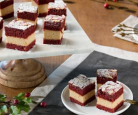 Pastelitos red velvet de crema de turrón