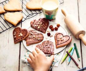 Sablés cœur noisette-chocolat